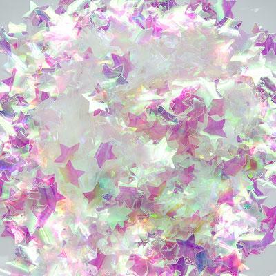 Конфетти звездочки голографические для наполнения прозрачных шаров.