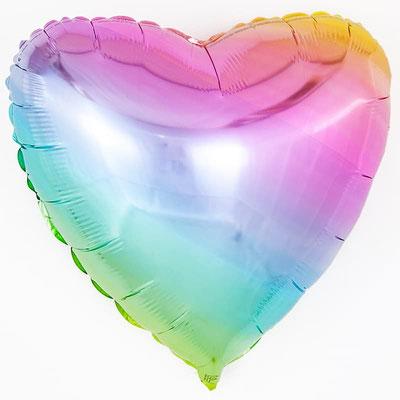 """Сердце """"Нежная радуга"""" градиент пр-ва Испания Flexmetal  воздух 90 р., гелий 140 р."""
