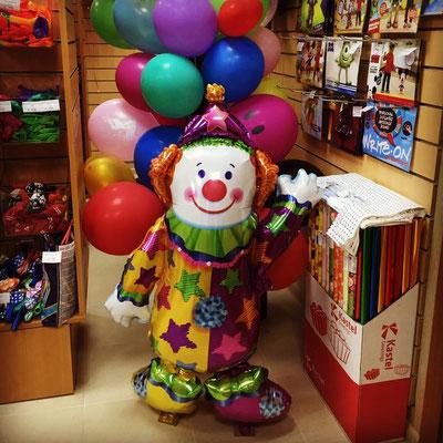 3D фигура Клоун-ходяшка (передвигается от легкого дуновения) выс. 111 см гелий 1000 р.