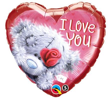 Сердце с мишкой Тэдди воздух 200 р.. гелий 245 р.