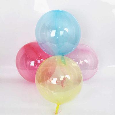 Полимерные прозрачные цветные сферы  50 см воздух 170 р., гелий 425 р.