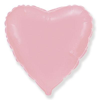 Нежно-розовое матовое сердце 45 см 125 р.   90 см 330 р. воздух, 655 р. гелий.