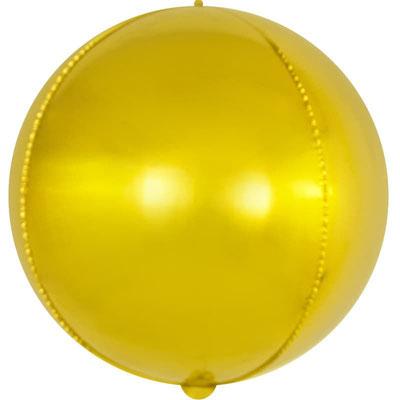 3D сфера золото диаметр  18 см воздух 60 р., 32 см воздух 100 р.,  35 см воздух 105 р., 40 см воздух 120 р. гелий 295 р.
