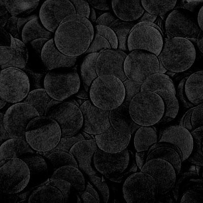 Конфетти бумага тишью Круги Черный 2,5 см для наполнения шаров.