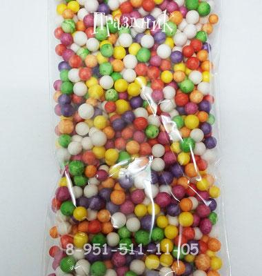 Конфетти шарики пенопластовые ассорти для наполнения прозрачных шаров.