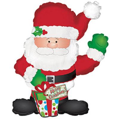 Дед Мороз выс. 80 см воздух 310 р., гелий 445 р.