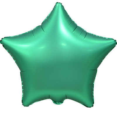 Сердце 45 см сатин зеленый 100 р. (пр-ва Китай Falali).