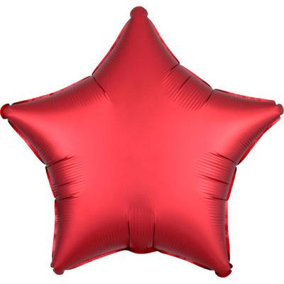 Красная сатин 45 см 135 р.