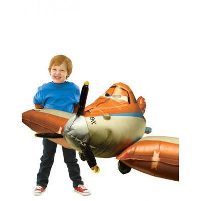 3D фигура Самолет летающий 1500 р.гелий выс. 48 см шир. 166 см