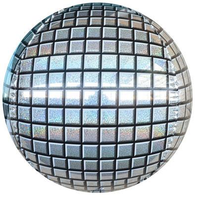 3D сфера диаметр 40 см диско воздух 110 р., гелий 270 р.