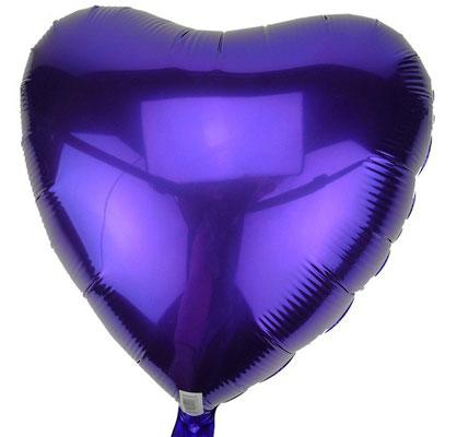 Сердце фиолетовое 40 см 125 р