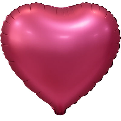 Сердце 45 см сатин бордовый 105 р. (пр-ва Китай Falali).