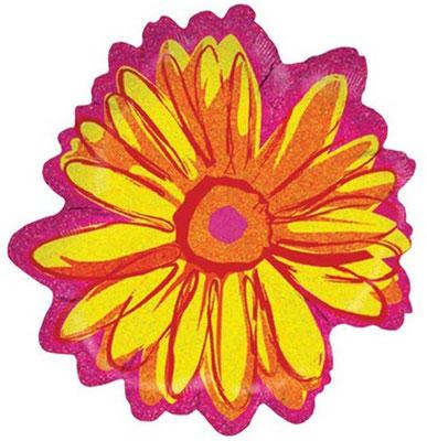 Цветок голография 50 см воздух 172 р., гелий 252 р.