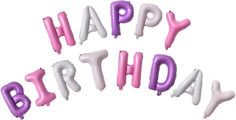 "Надпись ""Happy Birthday!""  выс. букв 35 см воздух 360 р."