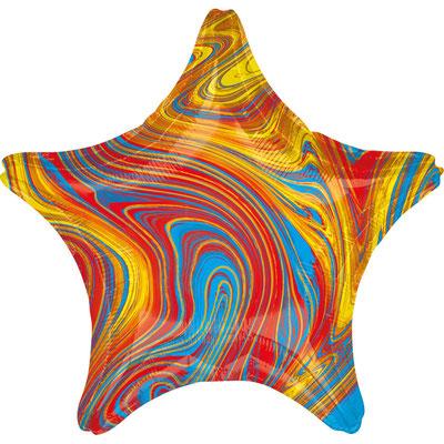 Звезда агат разноцветный воздух 90 р., гелий 140 р.