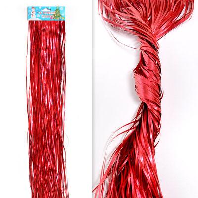 Гирлянда Дождик красный  0,5 м для украшения большого шара 30 р.