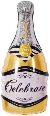 Бутылка шампанского золотая выс. 85 см воздух 100 р., гелий 195 р.