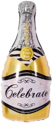 Бутылка шампанского золотая выс. 85 см воздух 110 р., гелий 205 р.