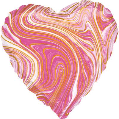 Сердце агат розовый воздух 90 р., гелий 140 р.