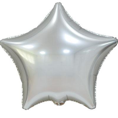 Сердце 45 см сатин серебряный 90 р. (пр-ва Китай Falali).