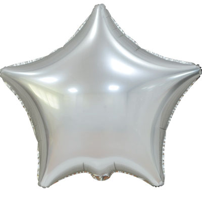 Сердце 45 см сатин серебряный 100 р. (пр-ва Китай Falali).