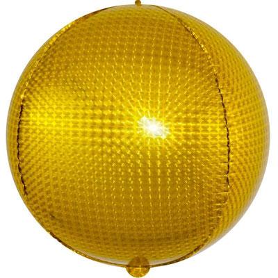 3D сфера  золотая голография диаметр 40 см воздух 180 р., гелий 340 р.
