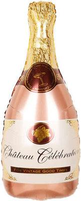Бутылка шампанского розовое золото выс. 85 см воздух 110 р., гелий 205 р.