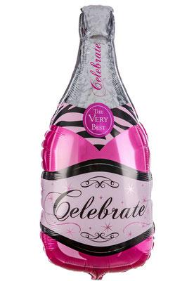 Бутылка шампанского розовая выс. 85 см воздух 110 р., гелий 205 р.