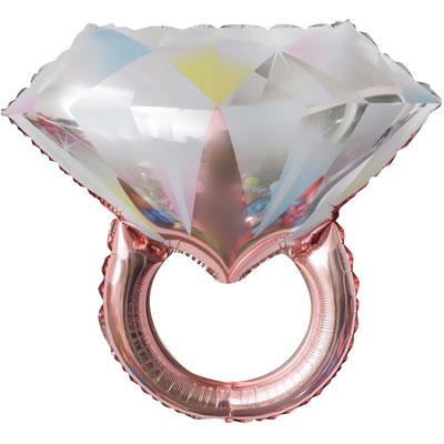 Кольцо с бриллиантом розовое золото пр-ва Китай  выс 60 см воздух 100 р., гелий 185 р.