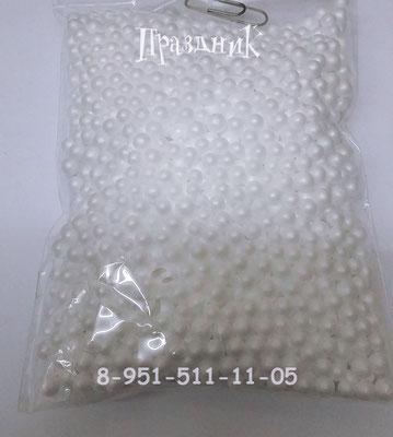 Конфетти шарики пенопластовые белые для наполнения прозрачных шаров.