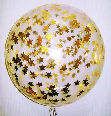 Шар 67 см с конфетти звездочки 800 р.