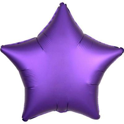 Фиолетовая сатин 45 см 125 р.