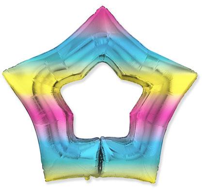 Звезда Контур нежная радуга градиент 90 см воздух 270 р., гелий 400 р.