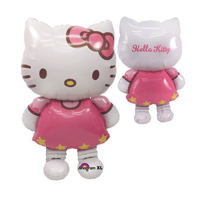 3D фигура Hello Kitty-ходяшка (передвигается от легкого дуновения) гелий 1750 р. выс. 127 см.