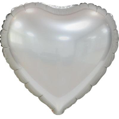 Сердце 45 см сатин серый 105 р. (пр-ва Китай Falali).