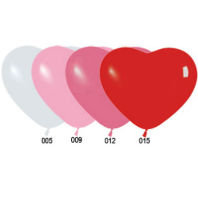 Сердечки латексные по 45 р. 32 см.