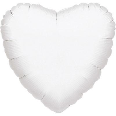 Белое сердце 45 см 125 р.,   90 см 330 р. воздух, 700 р. гелий.