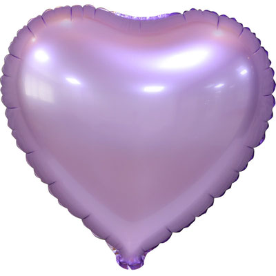 Сердце 45 см сатин сиреневый 110 р. (пр-ва Китай Falali).