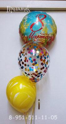 Фольгированный шар 145 р. Шар с конфетти 70 р. Шар-агат пр-ва Китай с обработкой 57 р.