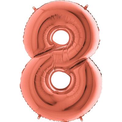 Цифра розовое золото 86 см. Grabo Италия. Воздух 330 р., гелий 450 р.