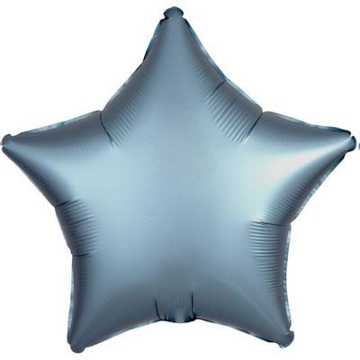 Темно-серая сатин 45 см 125 р.