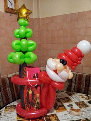 Дед мороз с кульком для подарка 450 р.