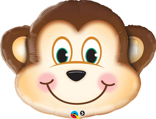 Голова обезьяны 65 см воздух 350 р., гелий 510 р.