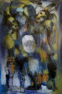 Les enchaînés - 150 cm x 93 cm -Acrylique, Mixte - 2019