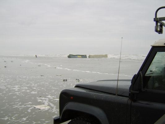 Containers op het strand!