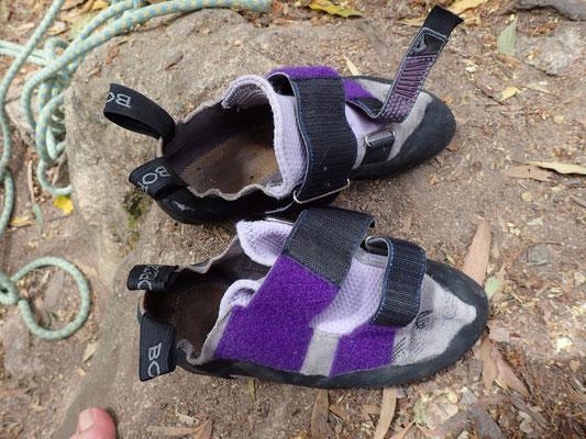 Schuhe des Teufels - Kletterschuhe