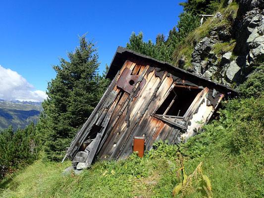 schon ein bisschen in die Jahre gekommen diese Hütte