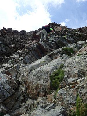 Kletterpartie aufs Hohe Rad