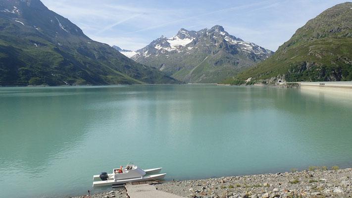 Nächste Wanderung: auf zum Hohen Rad, mal wieder am Silvretta-Stausee