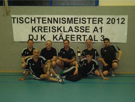 hinten v. l.: Dominik König, Manfred Shita, Daniel Werle, Werner Warkocz, Burak Ince vorne v. l.: Kazem Najafipour, Pavo Golemac